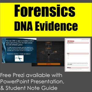 DNA Evidence powerpoint presentation and student note guide